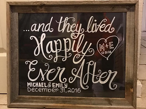 UNFRAMED SPECIAL OCCASION SIGN