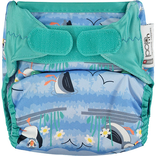Close - Pop-in Bio Laminate Puffin BTP Nappy