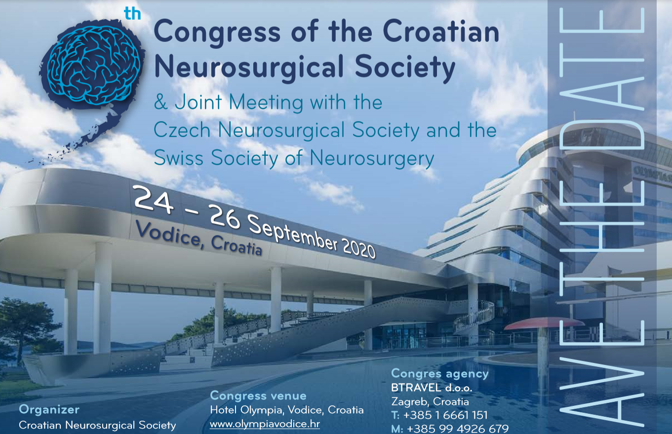 9th Congress of the Croatian Neurosurgical Society -Save the Date
