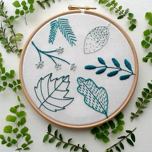 Spring Leaves Embroidery Kit