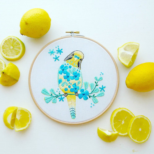 Marjorie the Budgie Embroidery Kit