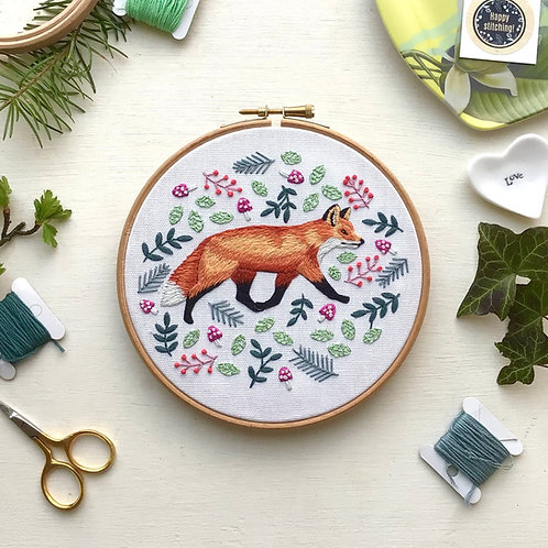 Fox & Fronds Embroidery Kit