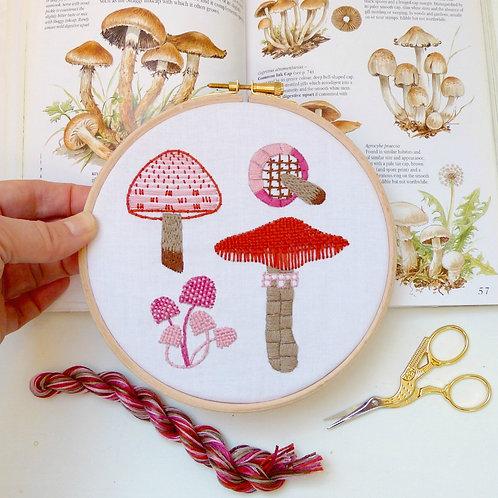 Mushrooms Embroidery Kit