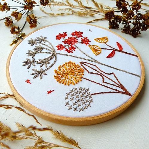 Autumn Wild flower Embroidery Kit