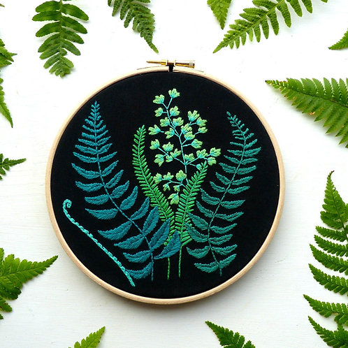 Ferns Embroidery Kit