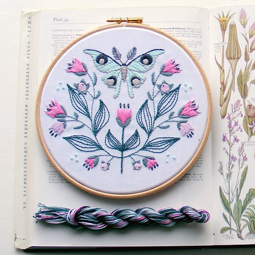 Luna Moth Embroidery kit