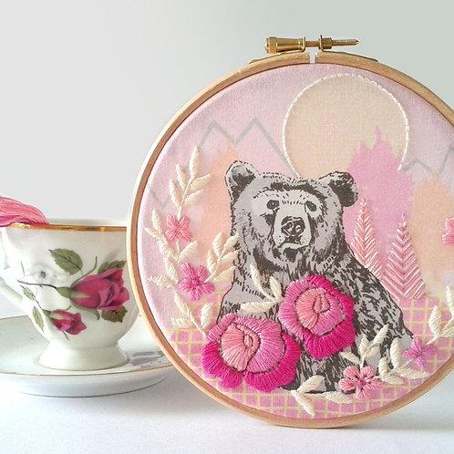 Homeward Bound Bear Embroidery kit