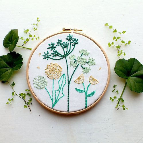 Spring Wild flowers Embroidery Kit