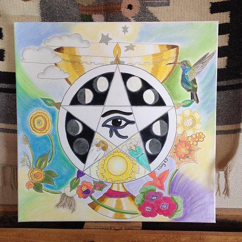 persoonlijke mandala 50x50cm
