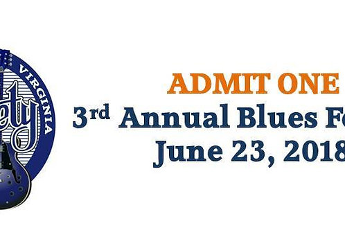 TICKET TO CVBS 2018 BLUES FEST -- JUNE 23, 2018 -- Not Yet Available