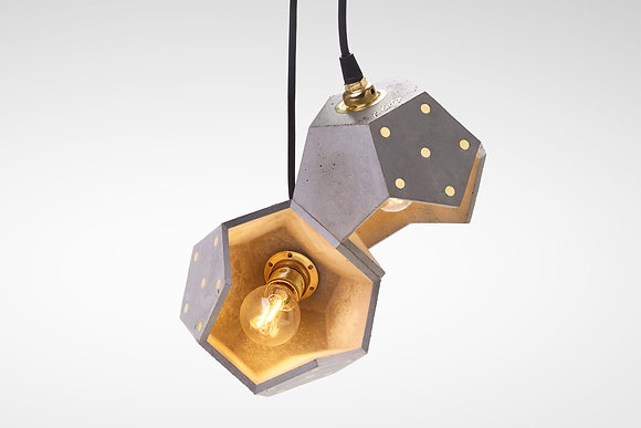 Basic Twele - lampada in cemento magnetico