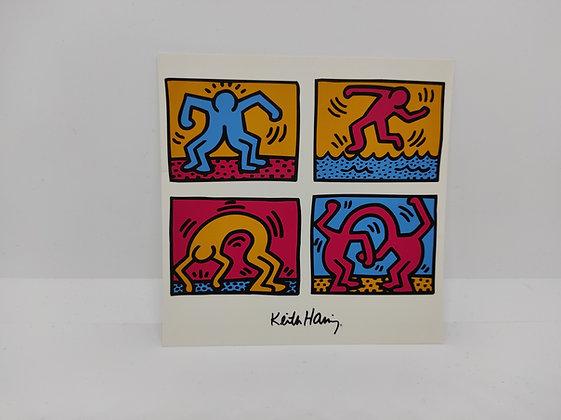 "Keith Haring, postcard ""Pop Shop Quad II 1988"""