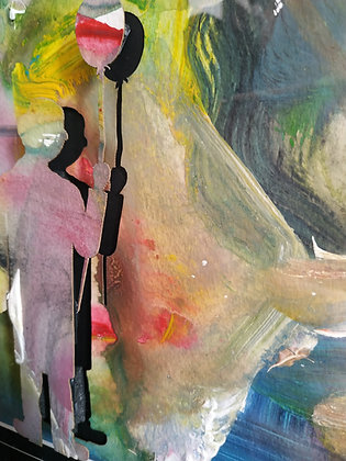 Lele Picá - Uomo con palloncino