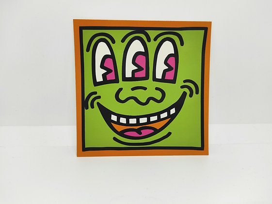"""Keith Haring, postcard """"Untitled 1990"""""""