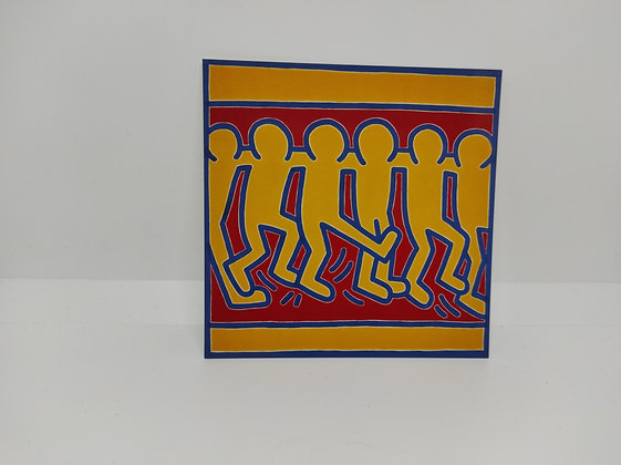 """Keith Haring, postcard """"Untitled #3 1988"""""""