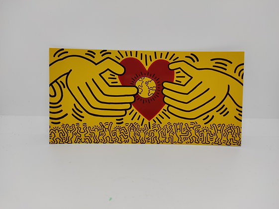 """Keith Haring, postcard """"Untitled 1985"""""""