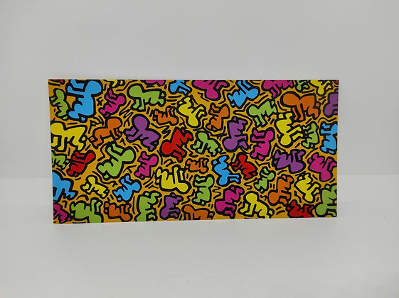 """Keith Haring, postcard """"Untitled 1988"""""""