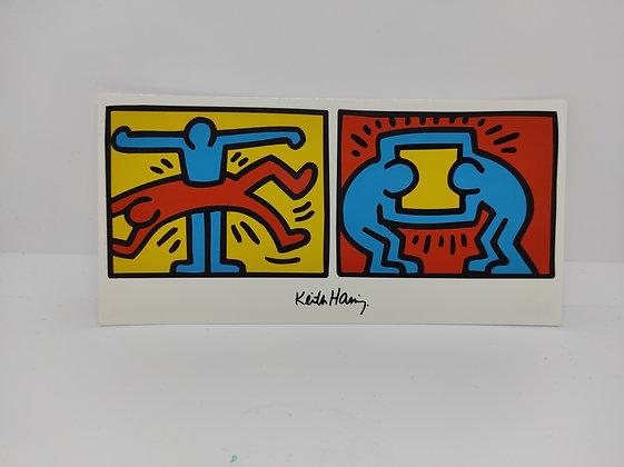 """Keith Haring, postcard """"Pop Shop VI 1988"""""""