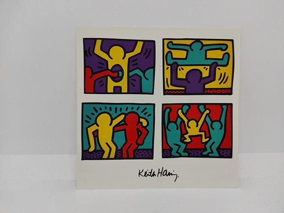 """Keith Haring, postcard """" Pop Shop Quad I 1988"""""""
