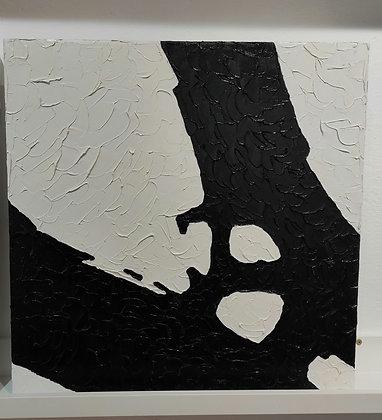 Frammenti olio su tela incollata