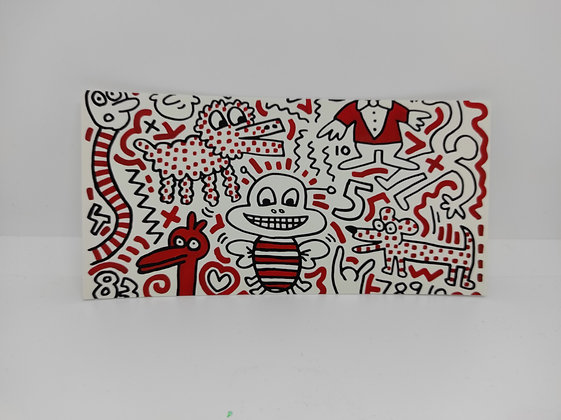 """Keith Haring, postcard """"Untitled 1983"""""""