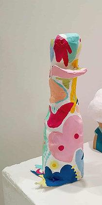 Misho, scultura papier mache