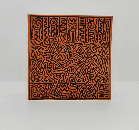 """Keith Haring, postcard """"Untitled 1982"""""""