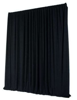 Rideau velours - Noir