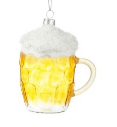 Ornement de bière en verre