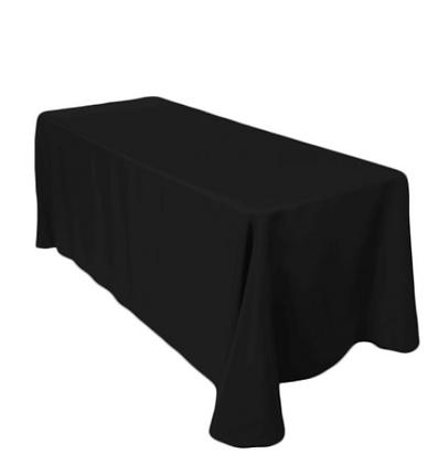Nappe rectangle 90'' x 156'' - Noir