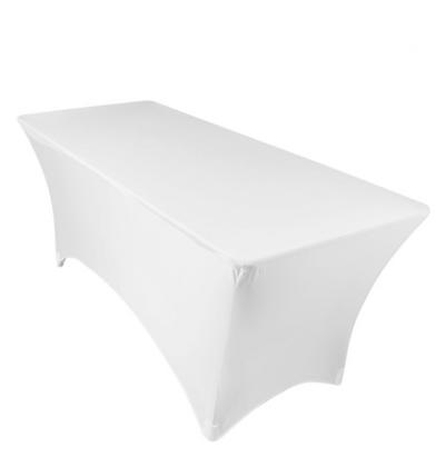Housse de table rectangle 6' - Blanc