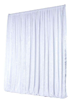 Rideau velours - Blanc