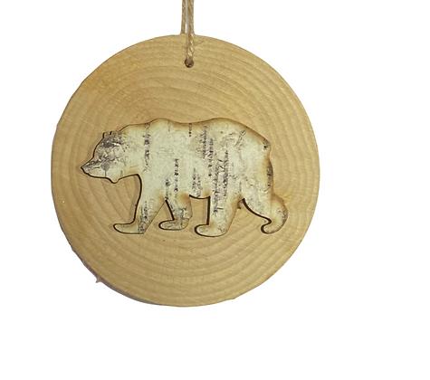 Rondelle de bois ours