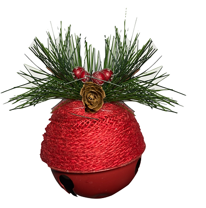 Ornement cloche rouge