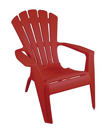 Chaise Adirondack Rouge