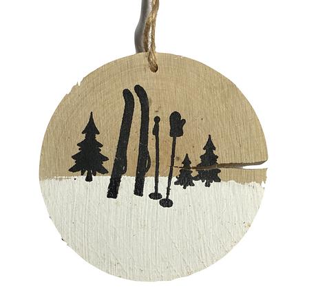 Rondelle de bois ski
