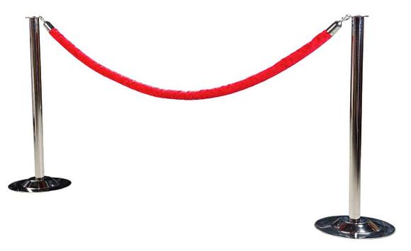 Poteau de foule & Cordon rouge