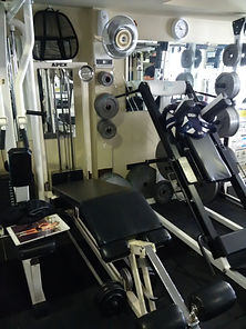 personal training, leg curl machine in personal training studio