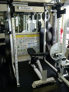 personal training, smith machine in personal training studio