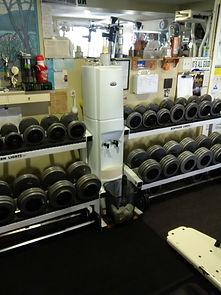 personal training, dumbells on rack in personal training studio