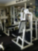 personal training, seated leg curl machine in personal training studio