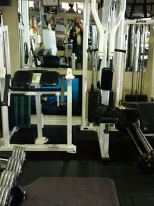 personal training, rear deltoid machine in personal training studio