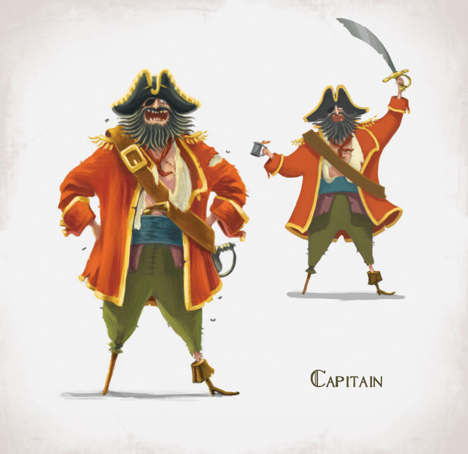 Pirates Character Design