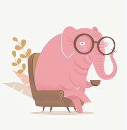 Tino the pink elephant