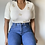 Thumbnail: Vintage Minimal Embroidered Top |S|