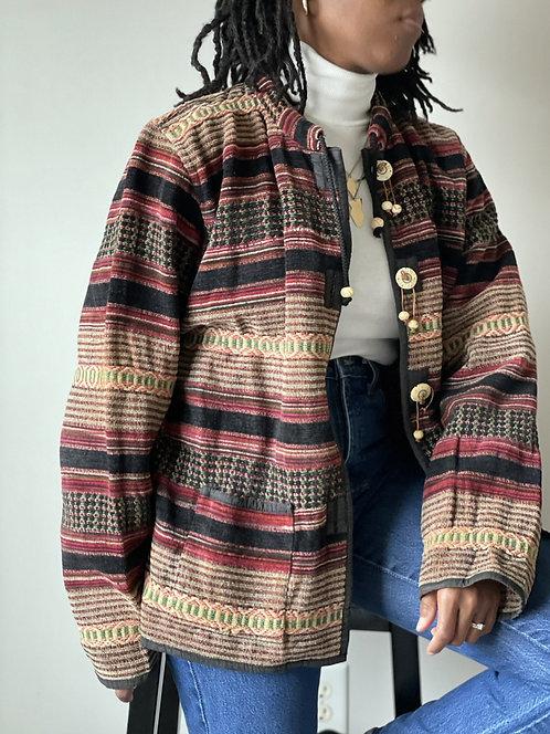 Multi-Pattern Cotton Jacket |L|