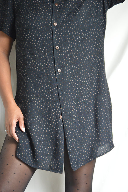 Vintage Playful Mini Shirt Dress |14|
