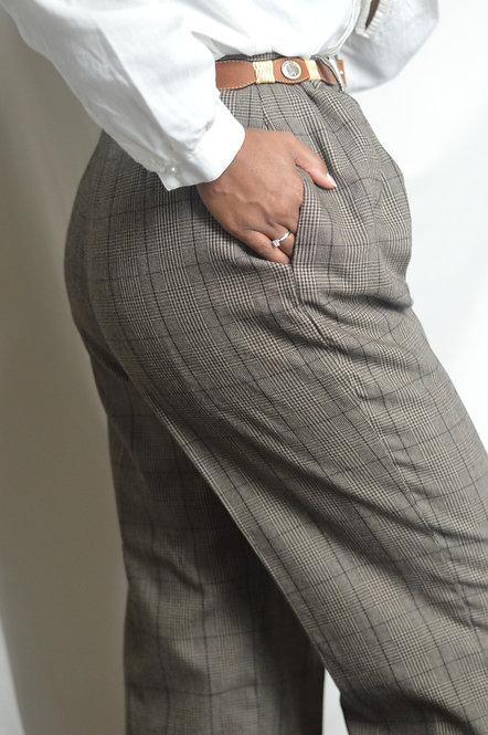 Vintage Classic Plaid Trousers |10|