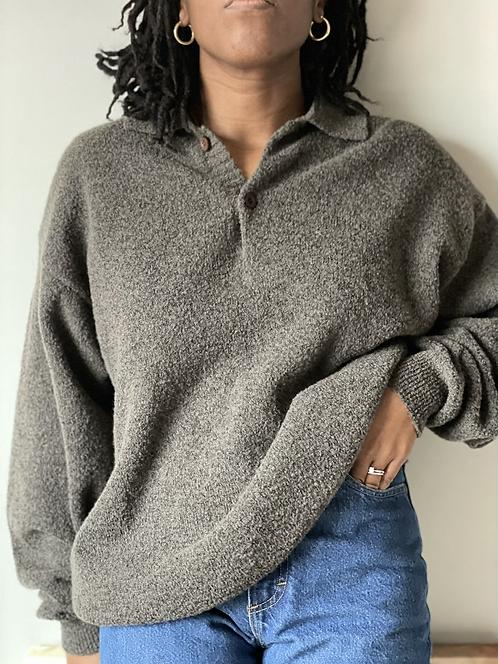 Vintage Wool-Blend Essential Sweater | L|
