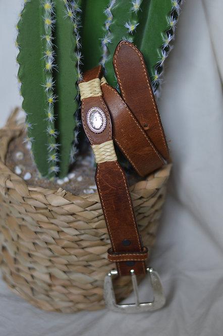 Vintage Western Top Grain Cowhide Belt |M|